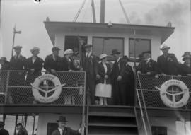 People on the deck of the S.S. Capilano