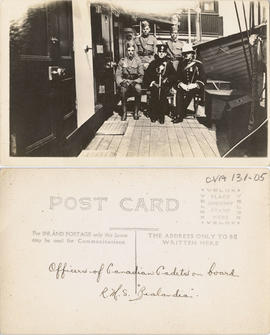 "Officers of Canadian Cadets on board R.M.S. ""Zealandia"""
