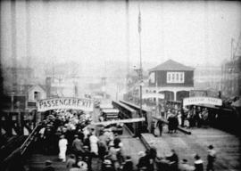 [Ferry wharf at foot of Lonsdale]