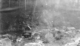 Coquitlam Dam [showing] original camp