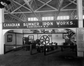 Canadian Sumner Iron Works display of machinery