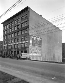 [The Gray Block at 1206 Homer Street, containing various businesses]