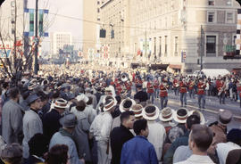 48th Grey Cup Parade, on Georgia and Howe, male marching band