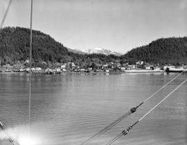[View of] Wrangell Alaska dock and townsite