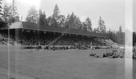 [The new grandstand at Brockton Point during Golden Jubilee celebration]