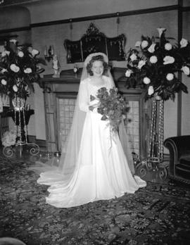 Nicholson-Dunsmuir Wedding - the bride alone