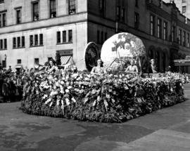 B.C. Telephone Co. float in 1947 P.N.E. Opening Day Parade