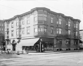 [Capitola Pharmacy and Apartments, corner of Davie Street and Thurlow Street]