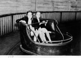 Girls in bumper cars