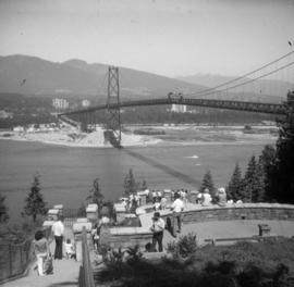 Prospect Point and Lions Gate Bridge looking at West Shore
