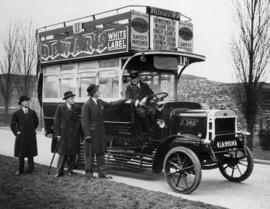 "London Omnibus, ""Old Bill's"" brother, W.A. McAdam, Agent-General for B.C., (centre)"