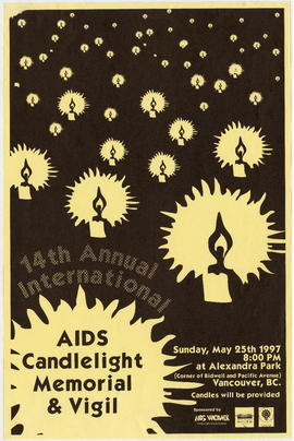 14th annual international AIDS candlelight memorial and vigil : Sunday, May 25th, 1997 at Alexand...