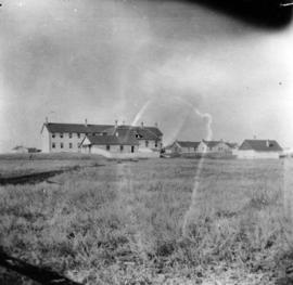 [View of the Northwest Mounted Police barracks]