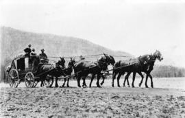 [Barnard's Express and Stage Line with Royal Mail enroute to Barkerville ]