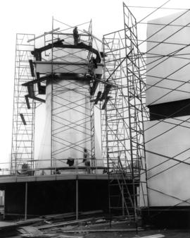 Construction of a 1959 P.N.E. 'Salute to the Orient' pavilion