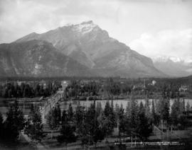 Cascade Mountain from Sanitarium Hotel, Banff