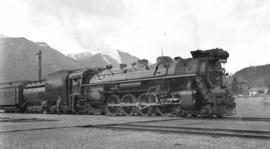 C.N.R. Steam, Pass. Eng. #6054 at Jasper