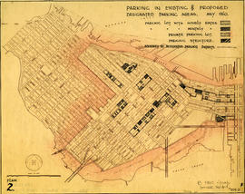 Parking in existing and proposed designated parking areas, May 1960