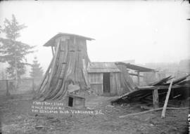 A three room stump house corner 26th Avenue and Seacombe Road [Prince Edward Street], Vancouver, ...