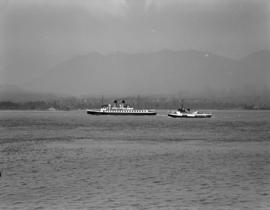 [The 'Lady Cecilia' and another boat in Vancouver harbour]