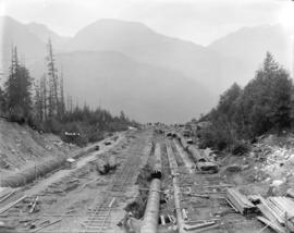 [Reconstruction of upper portion of penstocks for Buntzen Lake Power Plant number one]