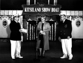[Mrs. Alsbury receiving a gift at the Kitsilano Show Boat]