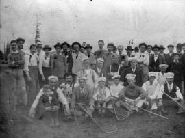 Vancouver Typographical Union and the Bricklayers' Union on Labour Day lacrosse team