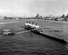 V.R.C. [Vancouver Rowing Club]/U.B.C. [University of British Columbia] gold medal coxless four - ...