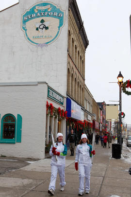 Day 59 Torchbearer strolling in Stratford, Ontario