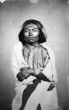 [Studio portrait of an unidentified First nations man]