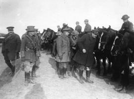 [Inspection of the horse transport of a Canadian battalion on the Western Front]