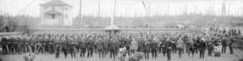 [Annual inspection of the 6th Regiment, The Duke of Connaught's Own Rifles on the lawn of 1190 (W...
