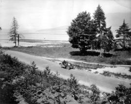 [View of Spanish Banks Beach (formerly Point Grey Beach) from Marine Drive and Blanca Street]