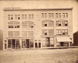 [Exterior of the New York Block - eastside 600 block Granville Street]