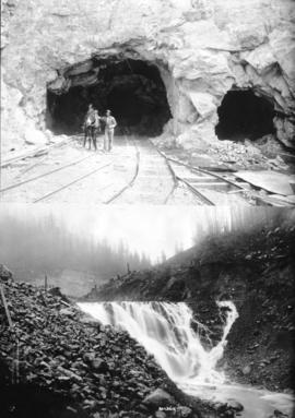 [Two views of Coquitlam Dam and Buntzen Lake Power Plant number two construction]