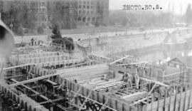 [Job no. V-9, 9a] : photo no. 5 : [photograph of construction site for Imperial Oil service stati...