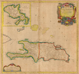Isles de Saint Domingue - map