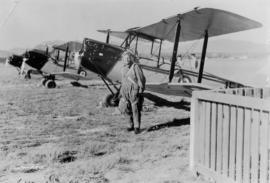 Duncan about to take up one of the four Tiger Moths given to II Squadron at the Vancouver Airport