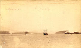 [Tall ships in Burrard Inlet]