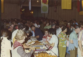 Crowd at unidentified buffet