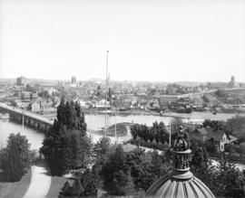 [View of James Bay and Victoria fom the Parliament Buildings]