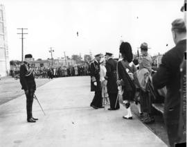 [King George VI and Queen Elizabeth at C.N.R. Station]