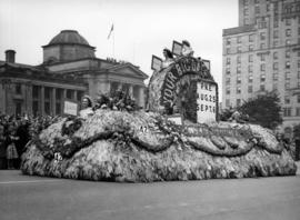 B.C. Telephone Co. float in 1948 P.N.E. Opening Day Parade