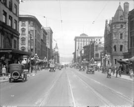 [View of Granville Street, looking north from Dunsmuir Street]
