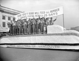 Food Industries of Vancouver float [in a Victory Bond parade]