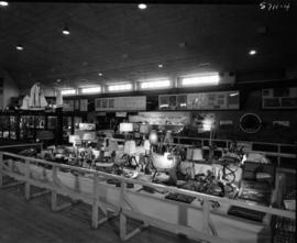 Violin Makers Association of B.C., Hastings Prop Twisters, and Vancouver HO displays in 1957 P.N....