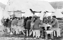 "(Y.M.C.A.) ""French Class"" Vernon B.C. [in military camp]"