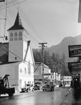 [View of buildings and business in Ketchikan Alaska]