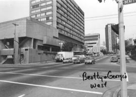 Beatty [Street] and Dunsmuir [Street looking] west