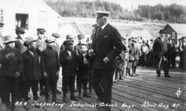 H.R.H. Inspecting Industrial School Boys Alert Bay, B.C.
